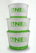 16 Oz. Eco Friendly Paper Containers - Yogurt Cups (500/Case)