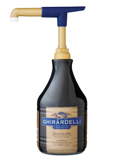 ghirardelli chocolate sauce topping black label