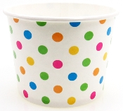 16 Oz. Polka Dot Frozen Yogurt Cups 1000/Case