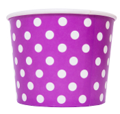 12 oz blue polka dot frozen yogurt cups blue colored yogurt cups for frozen yogurt and ice cream.