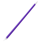 "Purple 9"" Giant Straws (8mm) Wrapped - 2,500/Case"