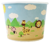 16 Oz. Safari Frozen Yogurt Cups 1000/Case