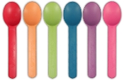 Biodegradable Colored Yogurt Spoons (1000 Pcs/Case)