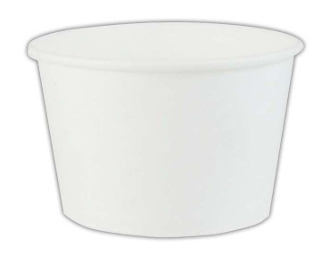 12 Oz. White Paper Containers - Frozen Yogurt Cups (1000/Case)