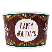 20 oz. Holiday Sweater Yogurt Cups 600/Case